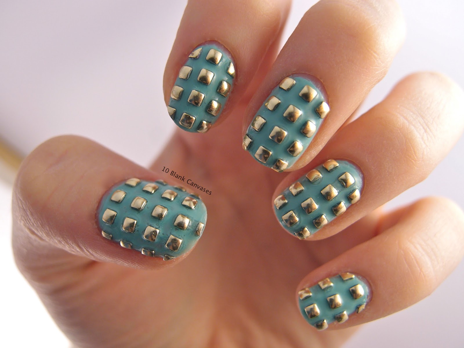 Gorgeous Nails With Studs Look! – CT Esthetic